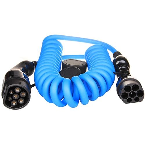 1-EV Type2 -> Type2 spiral (3x16A) Cabluri EV