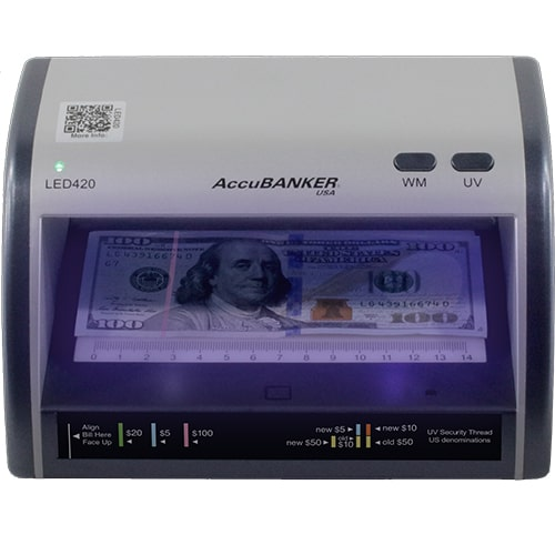 1-AccuBANKER LED420 counterfeit detector