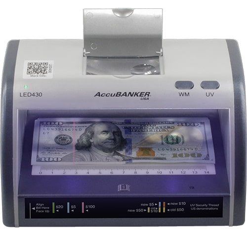 1-AccuBANKER LED430 counterfeit detector